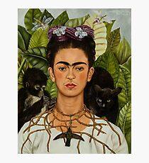 Frida Kahlo Self Portrait with Hummingbird  Photographic Print