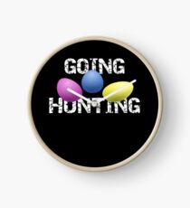 Insect Going Hunting Bug Hunting Gift Clock
