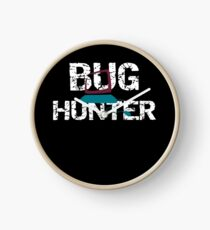 Insect Bug Hunter Funny Bug Collector Clock