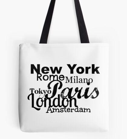 Cityscape Black ... Tote Bag