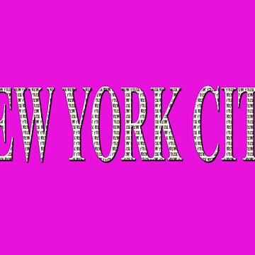 New York City (type in type on pink) by RayW