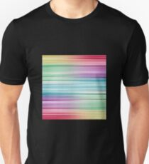 Linear Rainbow Design Unisex T-Shirt