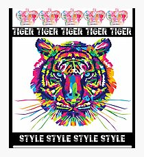 Tiger / Style / White Photographic Print