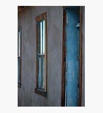 Aqua Doorway Photographic Print
