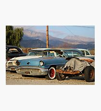 Classic Chevy True Blue Photographic Print