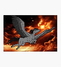 Dark Pegasus Photographic Print