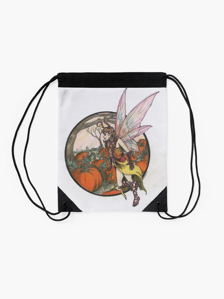 Alternate view of Aefwine - Autumn Harvest Fairy Drawstring Bag