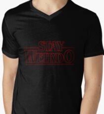 Stranger Things Stay Weirdo Men's V-Neck T-Shirt