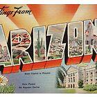 arizona vintage postcard  by jackpoint23