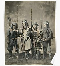 Samurai warriors vintage photograph Poster