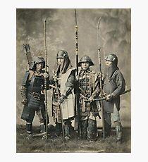 Samurai warriors vintage photograph Photographic Print