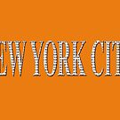 New York City (white type on orange) by Ray Warren