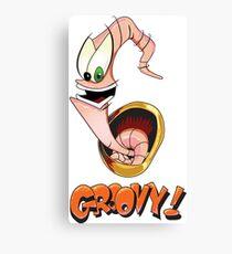 Earthworm Jim, Groovy! Canvas Print
