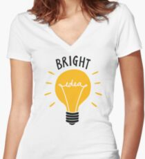 Bright Idea! Women's Fitted V-Neck T-Shirt