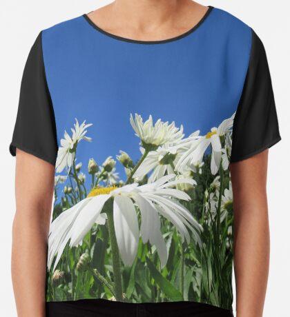 zauberhafte Blumenwiese, Blüten, Blumen, Sommer, Sonne, Natur Chiffontop