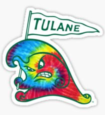 Tulane Rainbow Green Wave Sticker