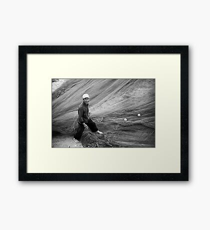 A Radiant Smile from a Local Fisherman - China Framed Print