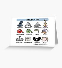 thinking caps Greeting Card