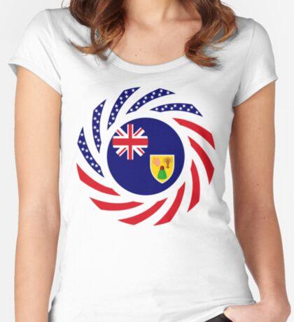 Turks & Caicos Islander American Multinational Patriot Flag Series Fitted Scoop T-Shirt