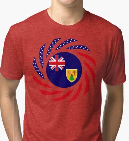 Turks & Caicos Islander American Multinational Patriot Flag Series Tri-blend T-Shirt
