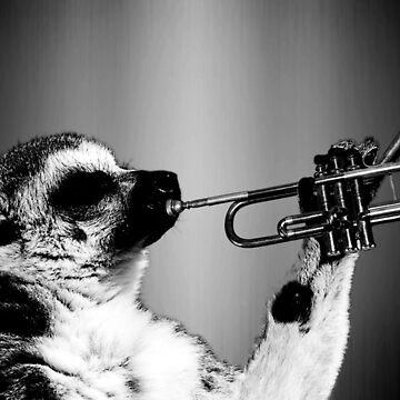 Lemur Playing Trumpet by Grathicks