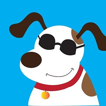 Cool Mutt with Sunglasses Mixed Breed Dog  by JessDesigns