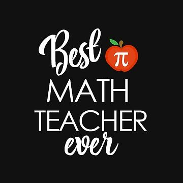 Best Math Teacher Ever with Pi and Apple Sticker by JessDesigns