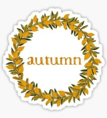 Autumn Fall  Wreath Sticker