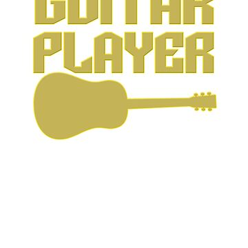 Guitar Player Acoustic Guitar in One  by simplyoj