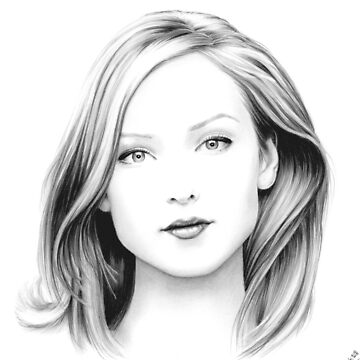 Alexandra Dowling pencil portrait by wu-wei