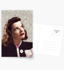 Katharine Hepburn, Vintage Hollywood-Legende Postkarten
