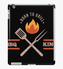 BBQ KING Dad Born to Grill Barbecue Cute Grill Grilling Gift iPad Case/Skin