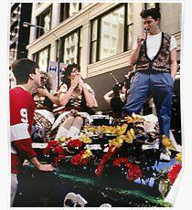 Ferris und Blumen Poster