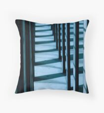Blue Lines 1 Throw Pillow