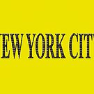 New York City (black type on yellow) by Ray Warren