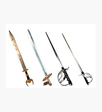 Various Old Swords Photographic Print