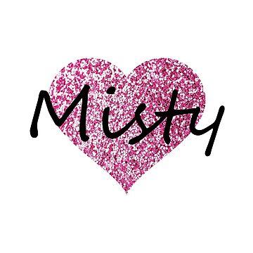 Misty Pink Heart by Obercostyle