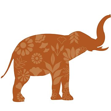 Indian elephant summer pattern by lizmaydesigns