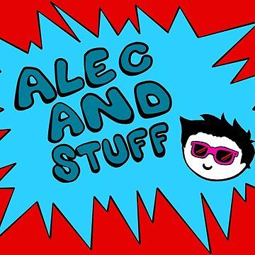 New alecandstuff Logo (Neon Blue) by alecandstuff