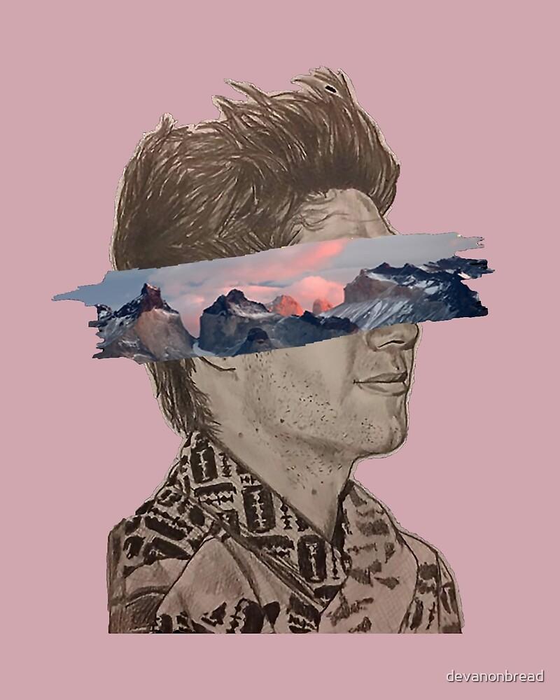 Niall Mountain Paint Streak (Pink) by devanonbread