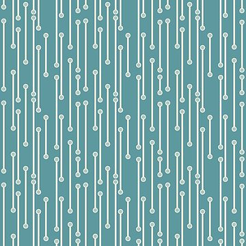 Dotted Lines in Teal, Cream and Sea Foam by MelFischer