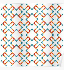 colorful geometrical abstract seamless pattern Poster