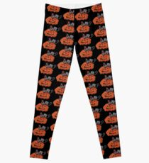 Jack O' Lantern Cat Leggings