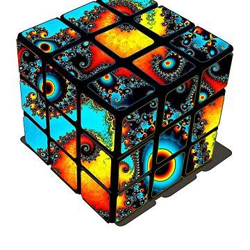 rubix cube magic cube mandelbrot nerd mathematics game nerd illusion pattern math cube colors dream optical by originalstar