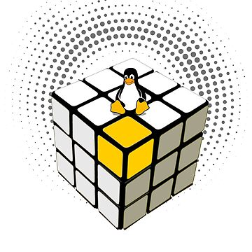 rubix cube linux penguin nerd pc game admin administrator system programmer by originalstar