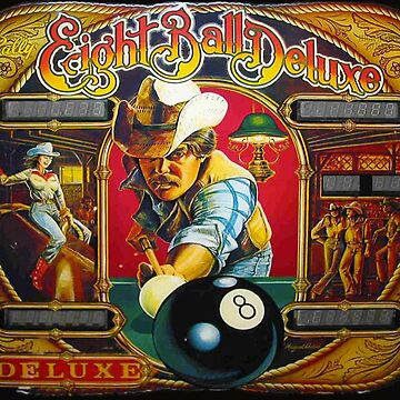 EIGHT BALL DELUXE - VINTAGE 80s ARTWORK by SUNSET-STORE