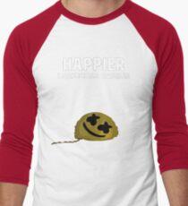 Camiseta ¾ bicolor para hombre Marshmello ft. Bastille - Arte digital más feliz