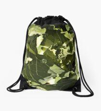 Savoy Cabbage Macro Drawstring Bag