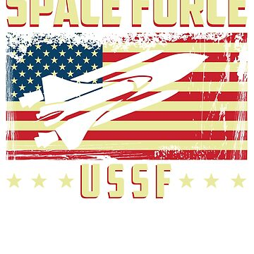 Funny USSF Space Force T-Shirt by kmpfanworks