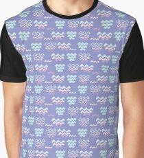 Purple Wave Pattern Line Shapes  Graphic T-Shirt
